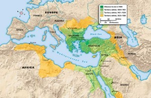 The expansion of the Ottoman Empire
